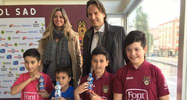 Aguas Font Vella-Lanjaron y el Pontevedra CF, se unen para mejorar los hábitos de hidratación infantil