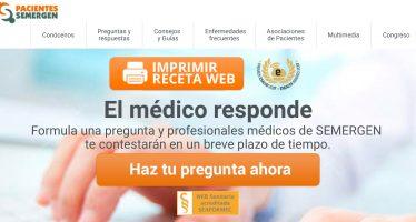 Premio para la web de pacientes de Semergen