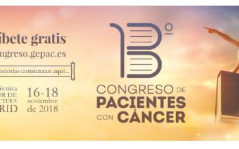 El 13º Congreso Nacional de Pacientes con Cáncer tendrá lugar en Madrid