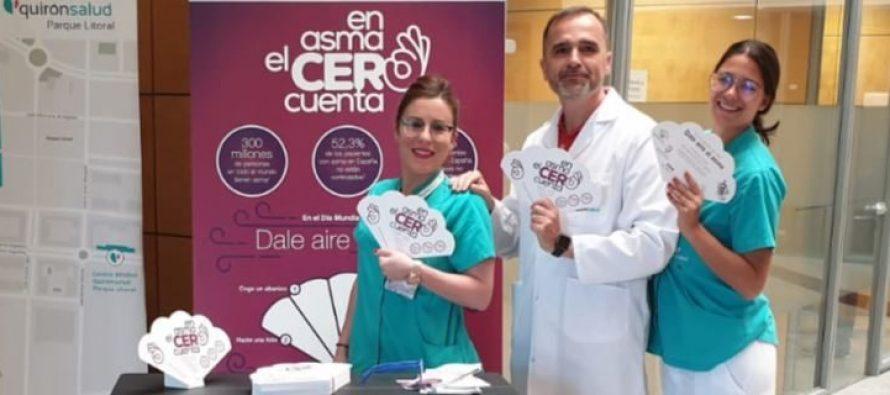Quirónsalud Málaga y Marbella lanzan 'En asma el cero cuenta' para concienciar sobre la necesidad de controlar el asma