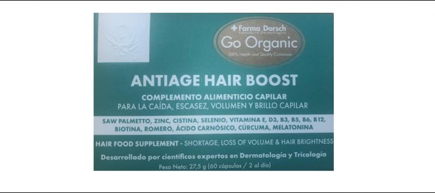 Antiage Hair Boost de Farma Dorsch en la cumbre para vencer el tratamiento, escasez, falta de volumen y brillo capilar