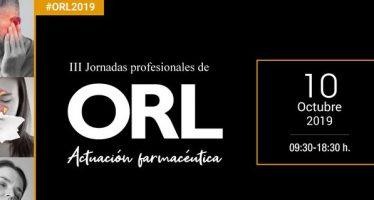 El Consejo de Farmacéuticos organiza la III Jornada Profesional de Actuación Farmacéutica en ORL