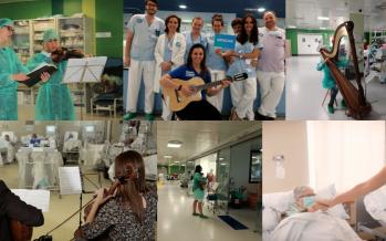 Microconciertos en hospitales para los afectados del coronavirus