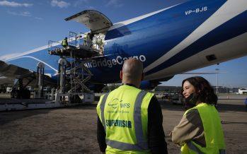 Coronavirus Madrid: Récord de material sanitario, 113 toneladas