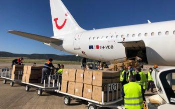 Inauguración del corredor aéreo sanitario entre China y España en Ciudad Real