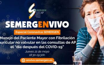 Coronavirus: SEMERGEN analiza el manejo del Paciente Mayor
