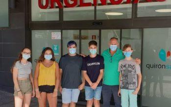 Quirónsalud Málaga elabora el protocolo Covid de la aventura trashumante de cinco niños que han superado un cáncer