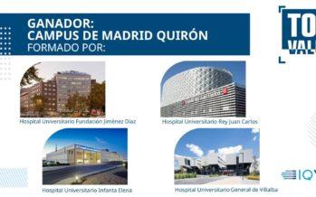 Los Hospitales Públicos gestionados por Quirónsalud en Madrid, galardonados en los Premios Top Value