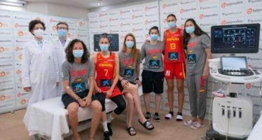 La Fundación Jiménez Díaz realiza el reconocimiento médico a la selección española de baloncesto femenina