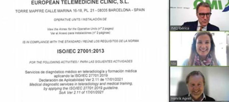 Certificación ISO 27701 – EUROPEAN TELEMEDICNE CLINIC