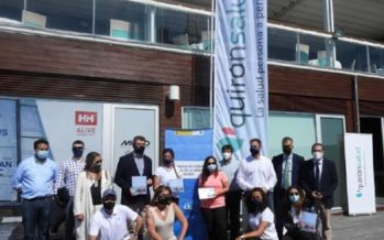 Quirónsalud A Coruña instala un servicio de fisioterapia en el puerto de A Coruña