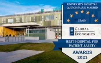 Quirónsalud Madrid recibe el premio a Mejor hospital en seguridad del paciente de los Global Economic Awards