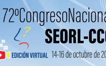 La SEORL-CCC celebrará la 72ª edición de su Congreso Nacional del 14 al 16 de octubre